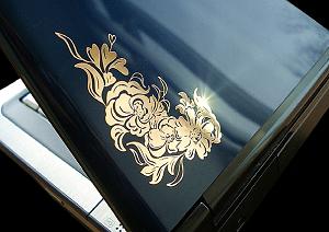 Плоттерная резка пленки Oracal (золото серебро)