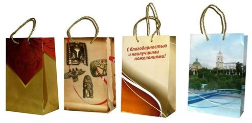 Пакеты с нанесением логотипа организаций