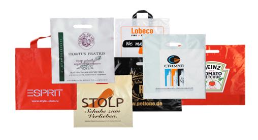 Рекламная печать на пакетах  пример